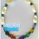 AFFIRMATION MUNDO handcrafted Brazilian gemstones fashion bracelet on special.