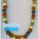 AFFIRMATION MUNDO handcrafted Egyptian cornelian gemstones fashion bracelet on sale.