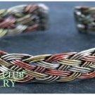 DUNHILL CLUB handcrafted unisex tri-tone copper fashion bracelet on sale.