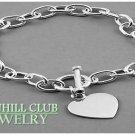 A boutique sterling silver bracelet that flaunts a classic design