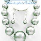 JONFRANCA CIAGA's Hampton Hills® fashion necklace with bold acrylic pearls in grey.