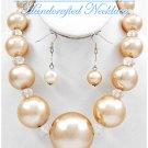 JONFRANCA CIAGA's Hampton Hills® fashion necklace with bold acrylic pearls in creme.