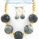 Hampton Hills® fashion necklace with bold ceramic balls in a black mix.