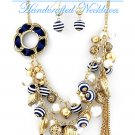 Multi strands, nautical with blue and white details with by JONFRANCA CIAGA fashion necklaces.