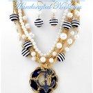 Premium acrylic pearls with nautical sea life by JONFRANCA CIAGA fashion necklaces.