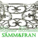 Costume designer jewelry is influenced by great multi-texture and silvertone finish.