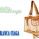 Pink tint, large clear tote by JONFRANCA CIAGA. Fashion handbag.