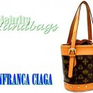 Chocolate brown, monogram classic petite tote by JONFRANCA CIAGA. Fashion handbag.