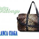 Lightweight duffel in Safari leopard print by JONFRANCA CIAGA. Fashion handbag.