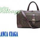 Oversized monogram duffel bag by JONFRANCA CIAGA. Fashion handbag.