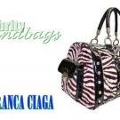 Animal print large duffel in Nantucket Bay fine materials by JONFRANCA CIAGA. Fashion handbag.