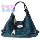 Resplendent!..Navy faux leather celebrity handbag by AFFIRMATION on sale now.