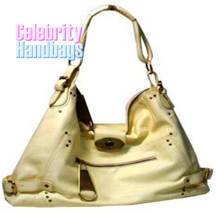 Resplendent!..Light Tan faux leather celebrity handbag by AFFIRMATION on sale now.