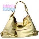 Resplendent!..Light Tan faux leather celebrity handbag by AFFIRMATION on sale now.