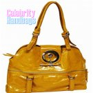 Ravishing!...Yellow patent-leather celebrity handbag by AFFIRMATION on sale now.
