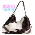 Amazing!...Brown and wheat wildlife pattern celebrity handbag by AFFIRMATION on sale now.