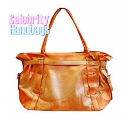 Posh!...Couture designed orange two-tone celebrity handbag by AFFIRMATION on sale now.