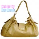 Divine...Fine couture styled tan celebrity handbag by AFFIRMATION on sale now.