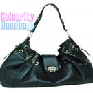 Gorgeous...Couture tailored jet black celebrity handbag by AFFIRMATION on sale now.