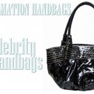 AFFIRMATION black large tote fashion handbag on sale.