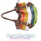 Harid & Fenwik women's multi color Brazilian tote fashion handbag on sale.