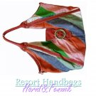 Harid &Fenwik women's Brazilian multi color stripe tote fashion handbag on sale.