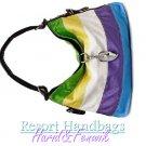Harid &Fenwik women's jewel-tone color block hobo tote fashion handbag on sale.