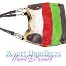Harid &Fenwik women's color block hobo tote fashion handbag on sale.