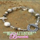 MEDIA ATTENTION freshwater, siam pearls and ice crystal fashion bracelet on sale.