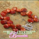 MEDIA ATTENTION Sardelian reddish brown gemstone fashion bracelet on sale.