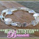 MEDIA ATTENTION semi-precious gemstones and pearls fashion bracelet on sale.
