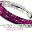 MEDIA ATTENTION Paramount® fuchsia ice rhinestone fashion bracelet on sale.