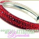 MEDIA ATTENTION celebrity encrusted stone fashion bracelet on sale.