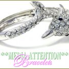 MEDIA ATTENTION encrusted Sea Dolphin celebrity fashion bracelet on sale.
