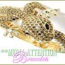 MEDIA ATTENTION ''Glamourstones'' Safari-lizard fashion bracelet on sale.