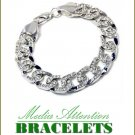 Boutique Quality fashion bracelet with Paramount blizzard ice accent stones and rhodium-moda finish
