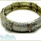 MEDIA ATTENTION chunky design fashion bracelet, with ice crystals and beautiful metalwork.