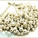 MEDIA ATTENTION  blizzard white Paramount pearls and beautiful metalwork.