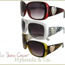 Add an aura of mystery and sophistication with these fantastic fashion sunglasses.