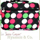 A premium laptop bags in fun candy dot motif from the Hyannis & Co. collection