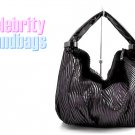 AFFIRMATION women's black Suedessence pattern fabric fashion handbag on sale.