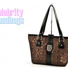 AFFIRMATION women's black and brown Signature tote fashion handbag on sale.
