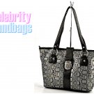 AFFIRMATION women's black and grey Signature tote fashion handbag on sale.