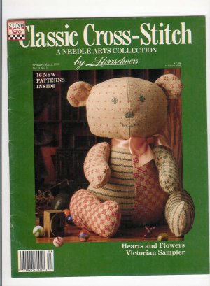 Classic Cross-Stitch Feb/Mar 90' Magazine