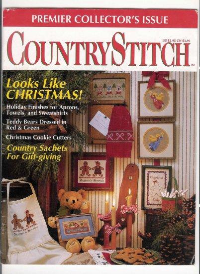 CountryStitch Premier Issue cross stitch patterns magazine