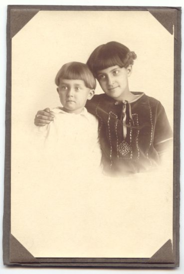 VINTAGE CABINET PHOTO, SWEET BROTHER AND SISTER   2