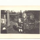 YOUNG GIRLS, SISTERS, VINTAGE REAL PHOTO POSTCARD   5