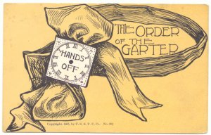 THE ORDER OF THE GARTER, HANDS OFF, 1905 POSTCARD   26
