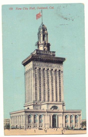 1912 NEW CITY HALL, OAKLAND CALIFORNIA VINTAGE POSTCARD   27