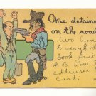 WAS DETAINED, COWBOYS ROBBING BUSINESS MAN,Vintage Comic  POSTCARD   37